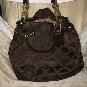 Chocolate brown Coach Hobo bag